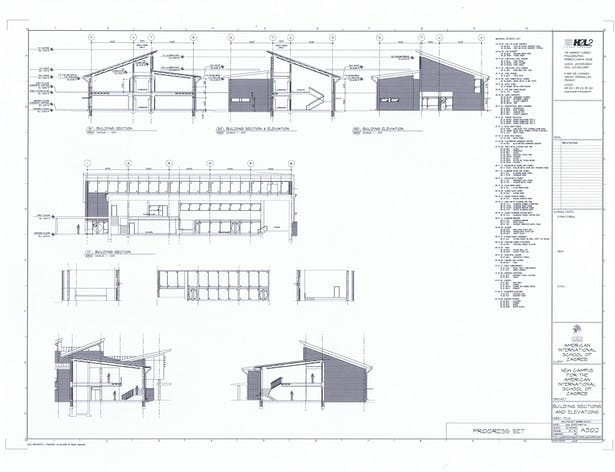 Exterior Elevations, Sections and Interior Elevations