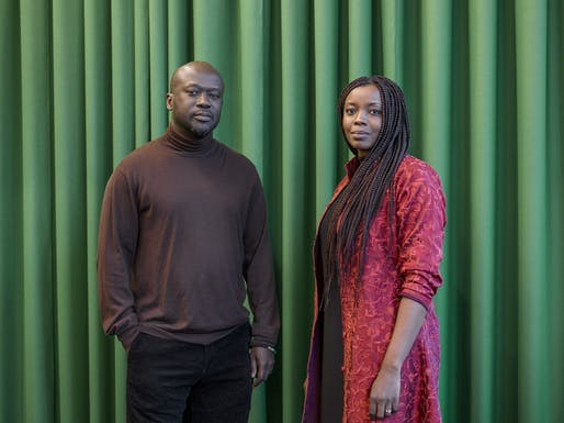 Sir David Adjaye, mentor in architecture, with his protégée Mariam Kamara. Photo © Rolex/Tina Ruisinger.
