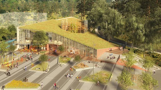 Culture - Future Projects Winner: Sweco Architects, Kulturkorgen - A Basket Full of Culture, Gothenburg, Sweden.