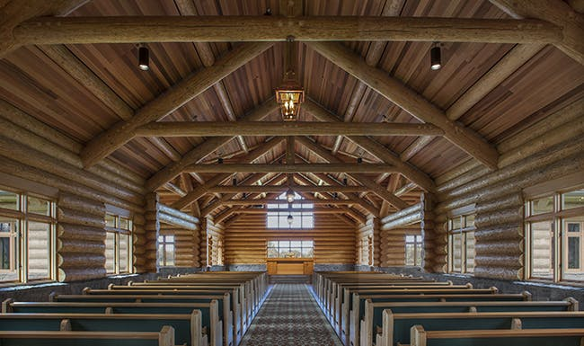 Evergreen Chapel by Woofter Architecture in collaboration with Hoffman Construction Company. Photo courtesy of Woofter Architecture.