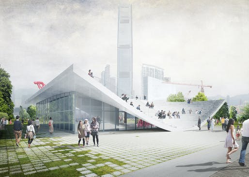 A² - WKCD Arts Pavilion proposal by XML. Image courtesy of XML.