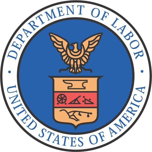 Department of Labor seal. Image via opm.gov.