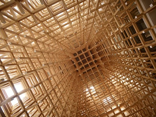"Detail of Kengo Kuma's GC Prostho Museum and Research Center in Kasugai, Japan. Photo: <a href=""https://www.flickr.com/photos/eager/13460667063/in/photostream/"">準建築人手札網站 Forgemind ArchiMedia</a>"