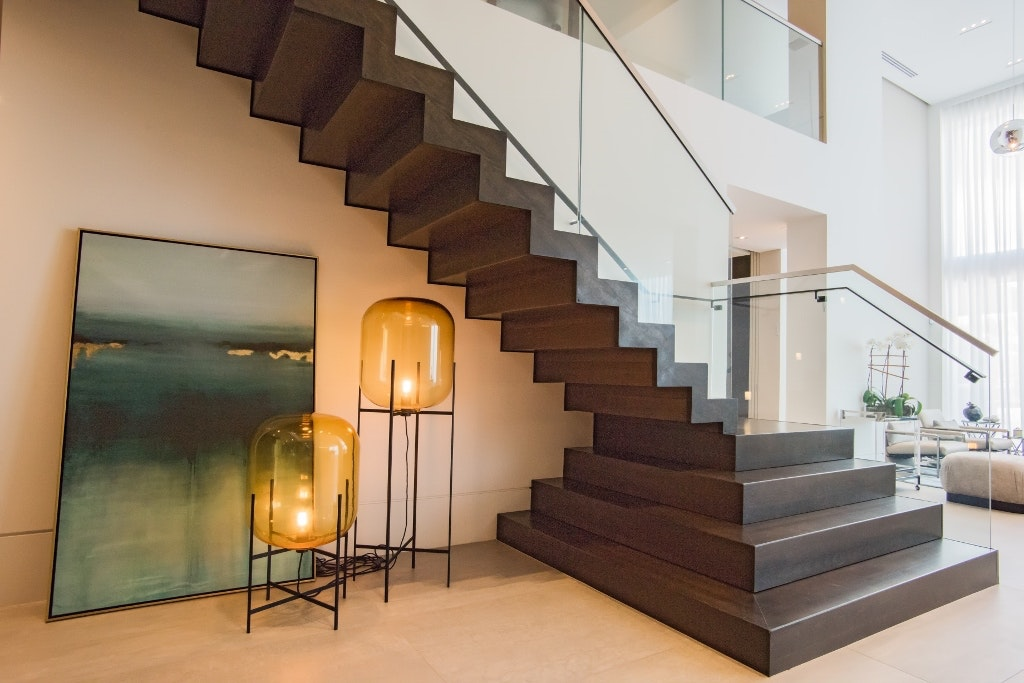 Contemporary Stair Renovation   Grande Foyer In Aventura Home