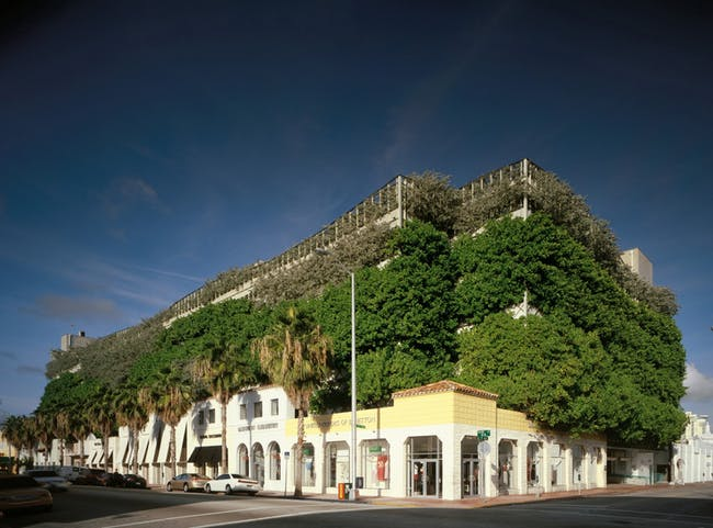 """The Ballet Valet garage in Miami Beach is nicknamed the """"Chia Garage"""" (credit: Dan Forer/Arquitectonica)"""