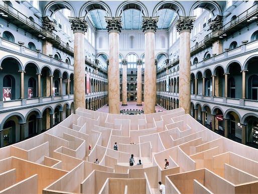 The National Building Museum in D.C. is one of the many institutions that relies on funding from the NEA. Pictured: The BIG Maze at the National Building Museum's Great Hall. Photo by Kevin Allen.