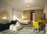 Four Seasons Dubai: King Suite Progress Render / Bamo