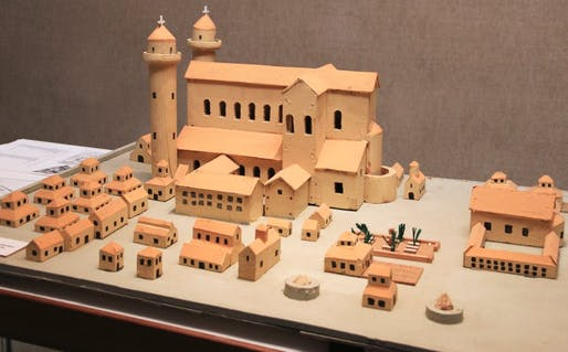view of the monastery project model via DPA