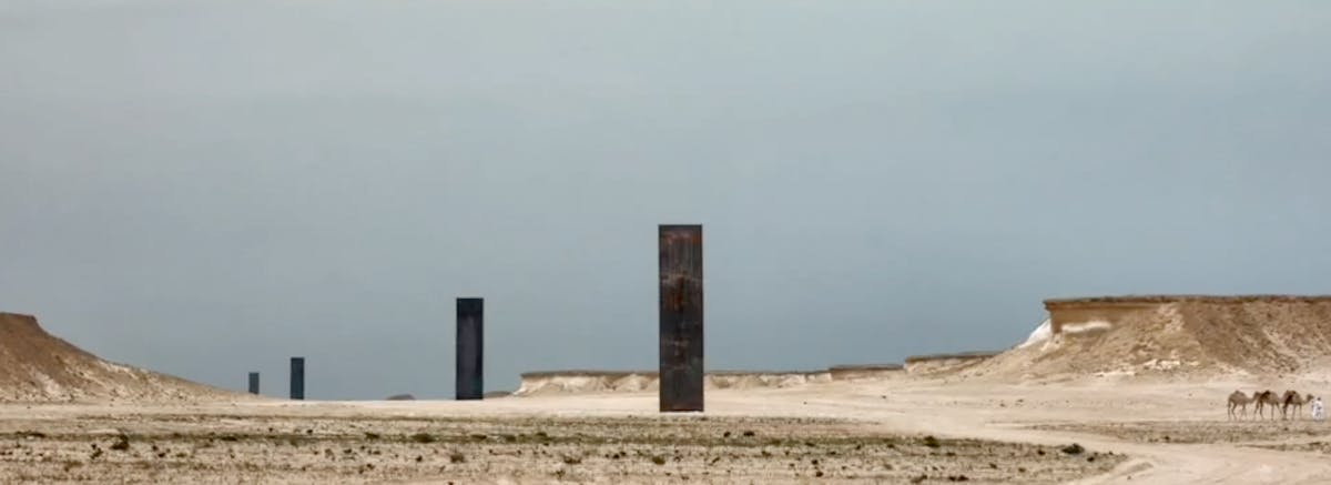 richard serra engages with the qatari desert landscape in. Black Bedroom Furniture Sets. Home Design Ideas
