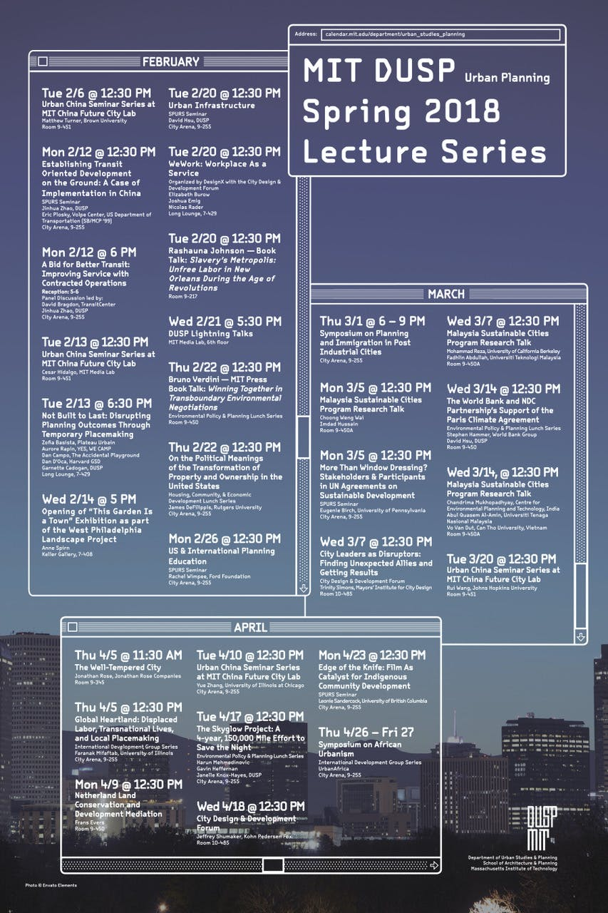 Get Lectured Mit Dusp Spring 18 News Archinect