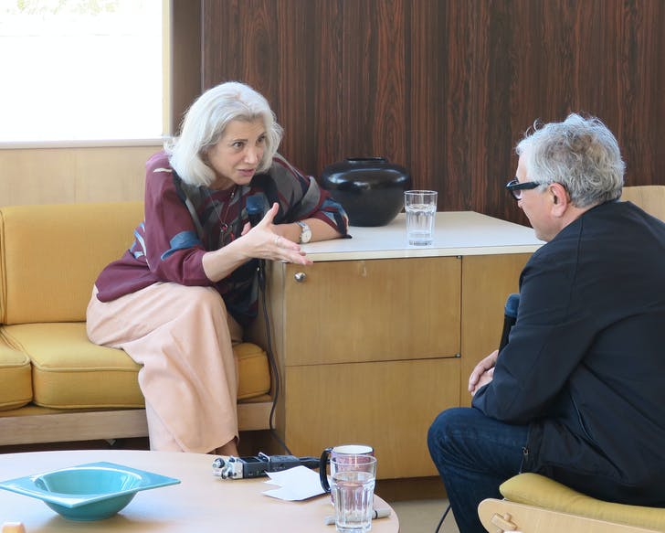 Carme Pinós and Orhan Ayyüce in conversation at the Neutra VDL House in Silver Lake, CA