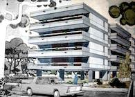 Apartment building in Agia Paraskeui , Athens, Greece
