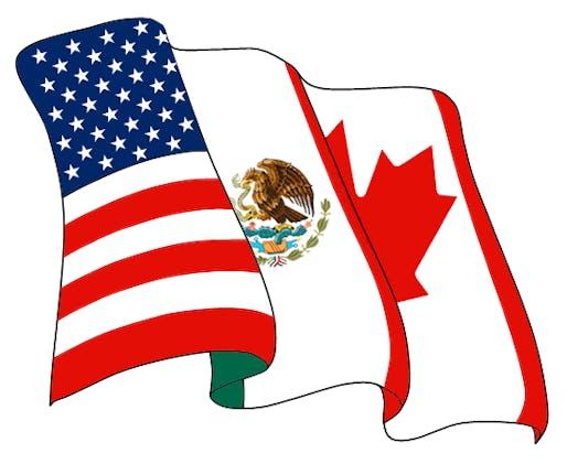 NAFTA logo, via Wikipedia.