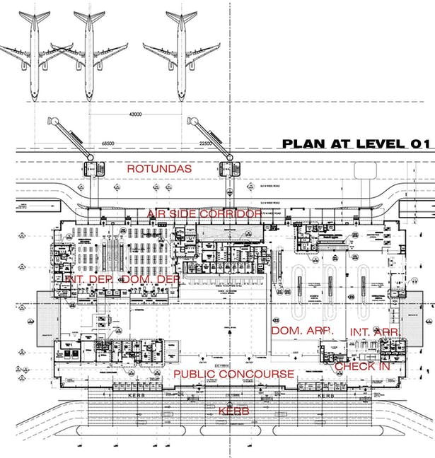 Airport - Plan at level 01