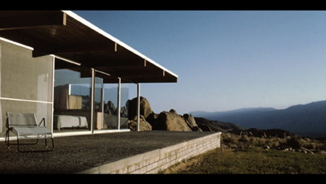 Richard Neutra's Oyler House in the 1960s. The structure is showcased in 'The Oyler House: Richard Neutra's Desert Retreat', which will premiere at ADFF 2013 in October. Photo provided by Novita Communications.