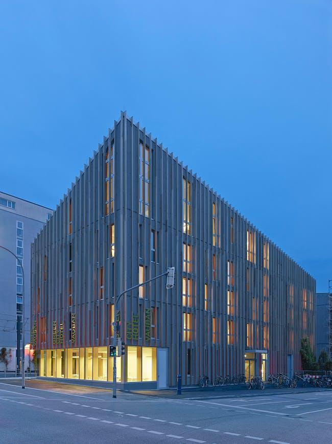 Barkow Leibinger's Stadthaus M1 (exterior) photo by Zooey Braun