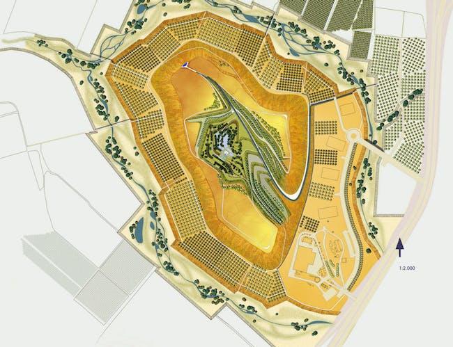 Plan of Hiriya Landfill Rehabilitation by Latz+Partner LandscapeArchitects, Tel Aviv