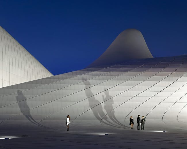 Buildings in Use: Heydar Aliyev Cultural Center by Zaha Hadid Architects. Photo by Hufton and Crow.
