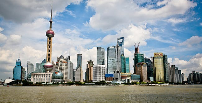 The Lujiazui skyline along the Pudong river. Photo: Matt Paish, via flickr.