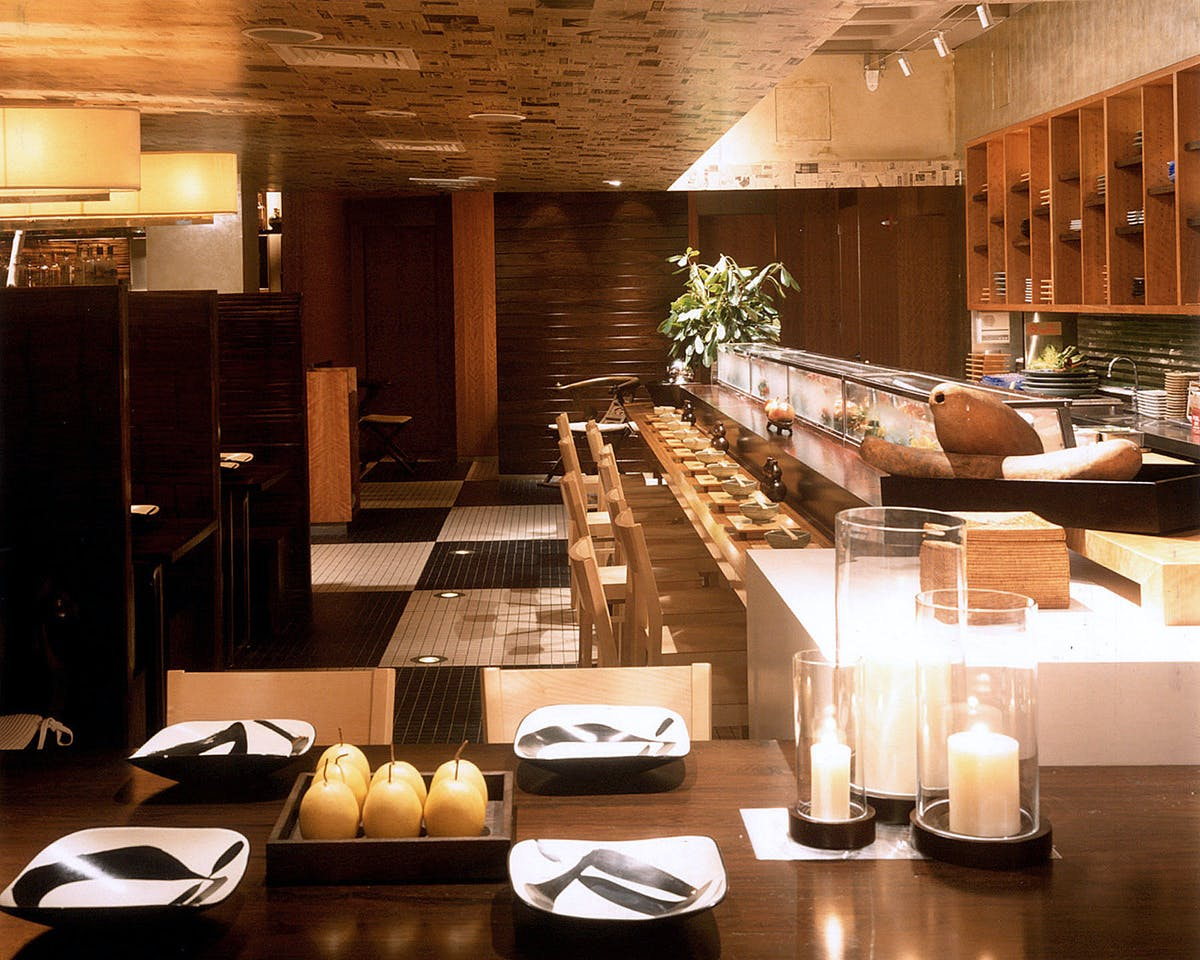 Haru restaurant tobin parnes design archinect - Interior design firms nyc ...