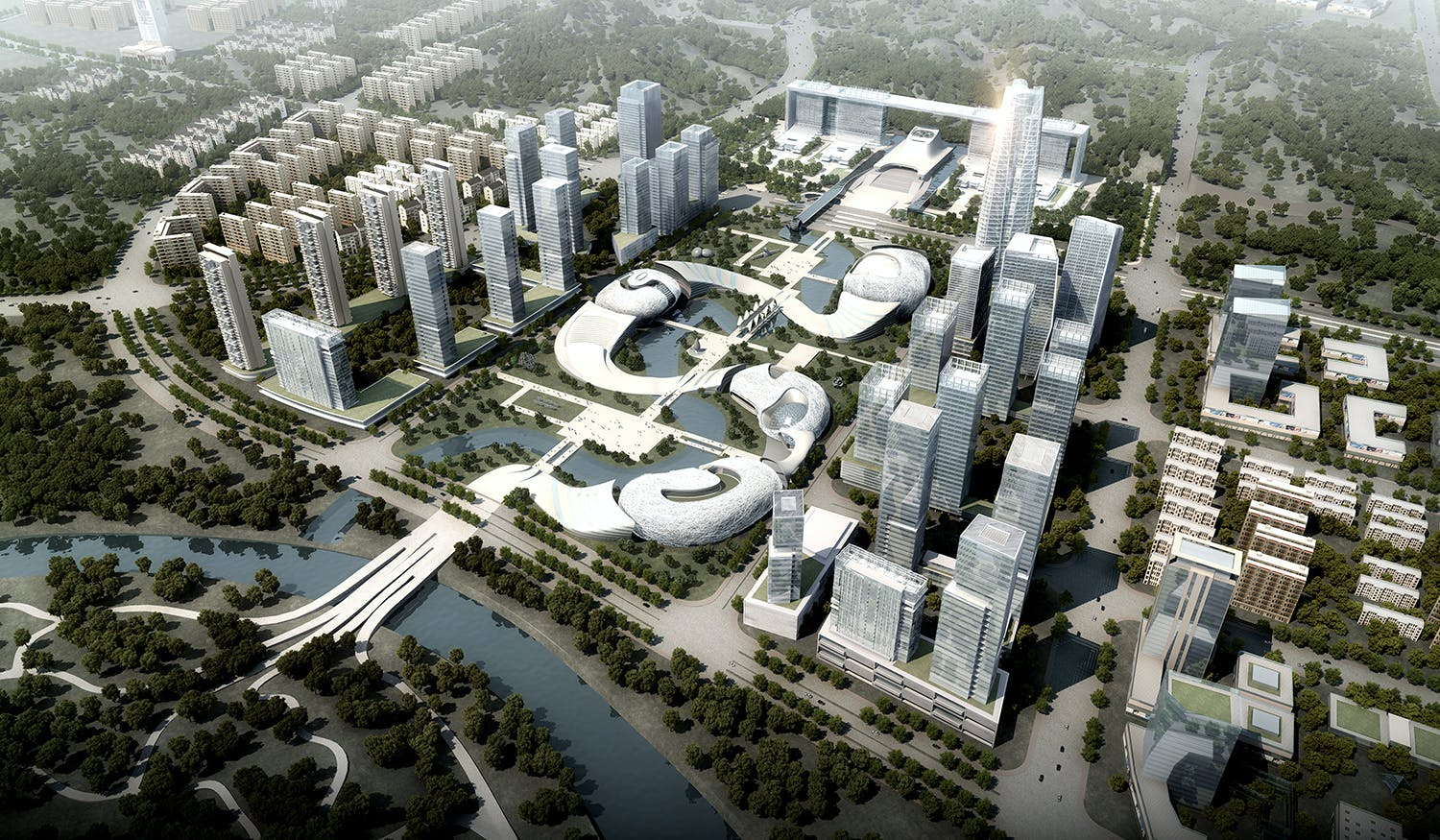 Yichang New District Master Plan And Public Service Center