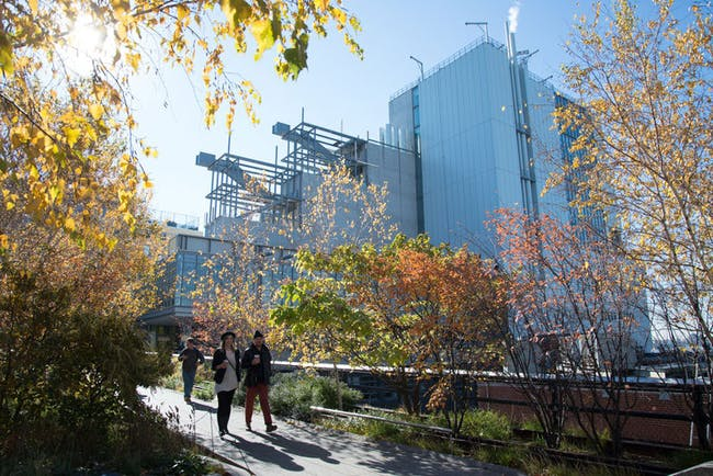 A view of the new building from the High Line. Credit: Timothy Schenck via the Whitney Museum of American Art