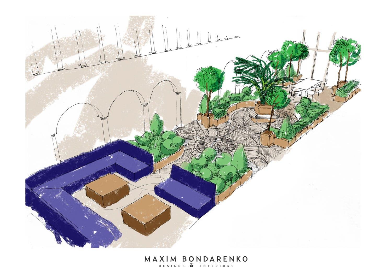 winter garden visualization maxim bondarenko archinect