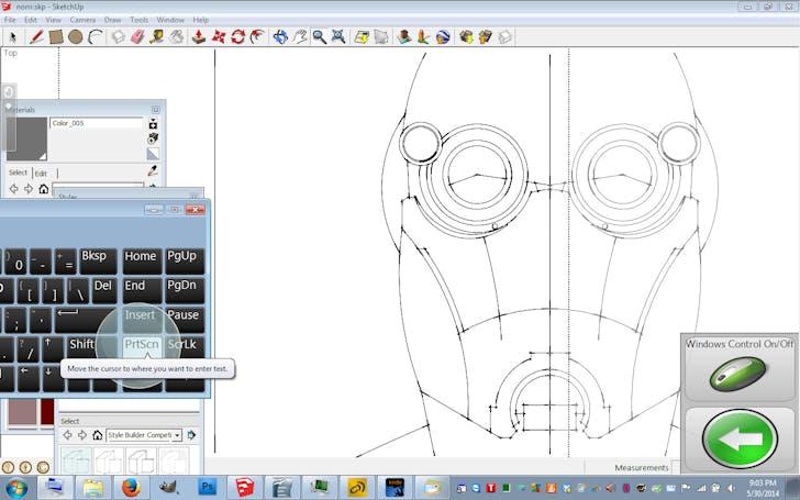 Screenshot of Tsai drawing using the 'Eye Gaze' computer interface. Image courtesy of Francis Tsai.
