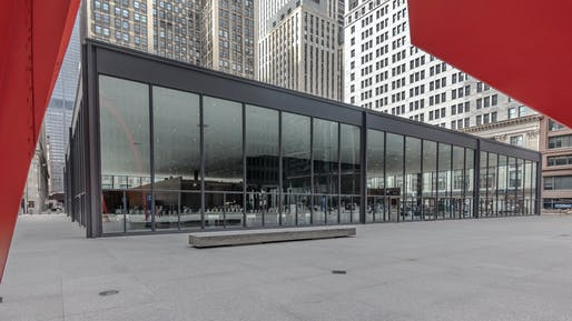 Design Award of Excellence: Chicago Federal Plaza United States Post Office, Chicago, IL, Ludwig Mies van der Rohe, 1963-74. Photo © Lee Bey.