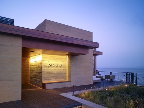 The material palette takes inspiration from the Malibu coastline and Japanese culture