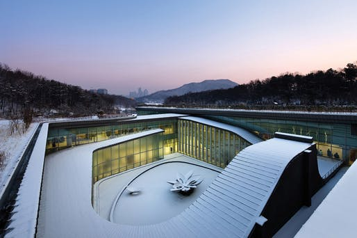 Seoul Memorial Park by HAEAHN architecture: view from south (Photo: Park Youngchae)