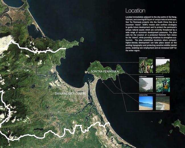 Son Tra Peninsula Strategic Vision Plan; Vietnam. Image courtesy of Skidmore, Owings & Merrill