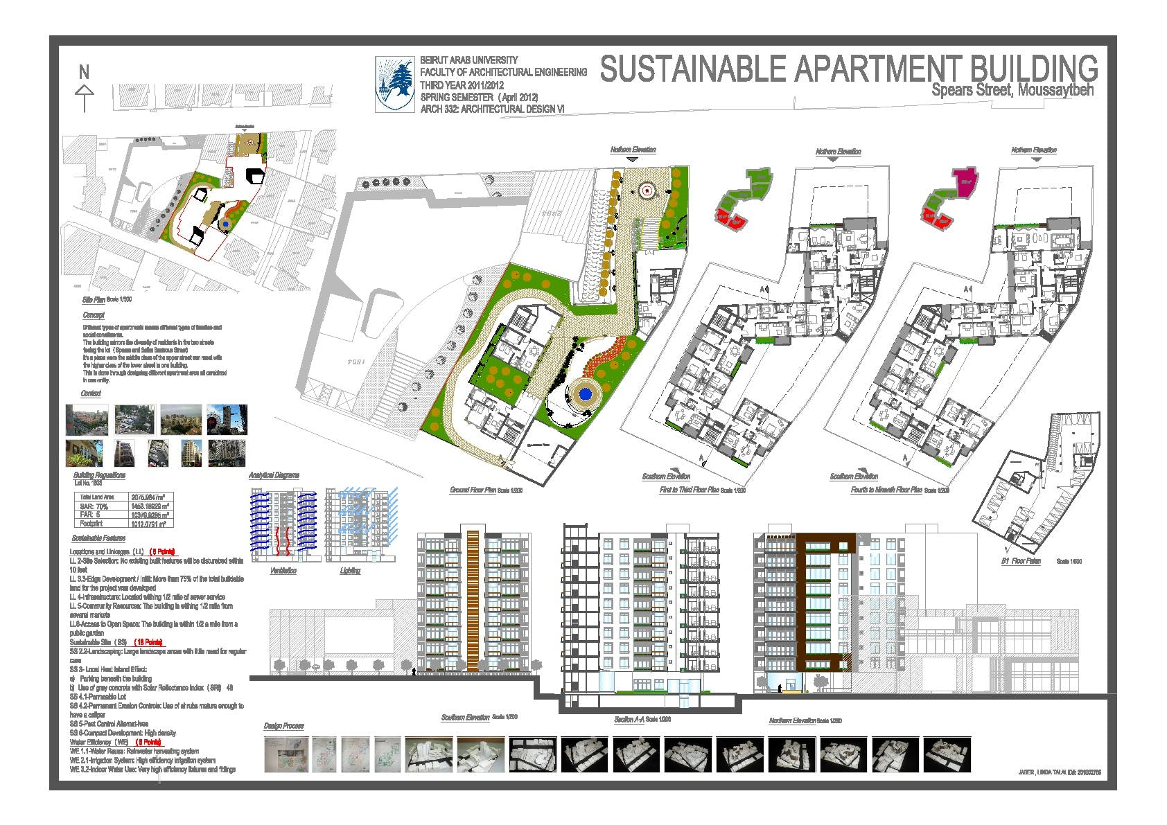 Sustainable apartment building linda jaber archinect for Green building plans