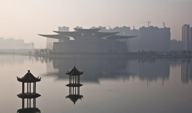 The building as seen from the Wuli Lake Bridge (Photo: Kari Palsila)