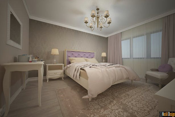 Interior design classic bedroom luxury house