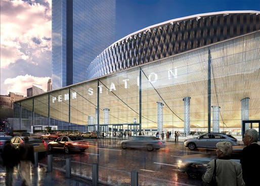 Rendering of 8th Avenue Entrance