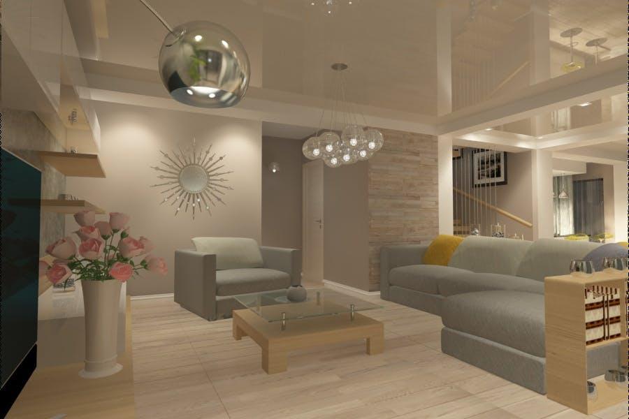 Design interior living casa moderna amenajari interioare for Interioare case moderne
