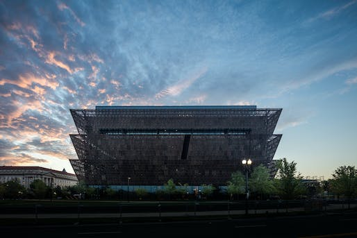 ​2018 MCHAP finalist: Smithsonian National Museum of African American History and Culture. Photo: Darren Bradley.