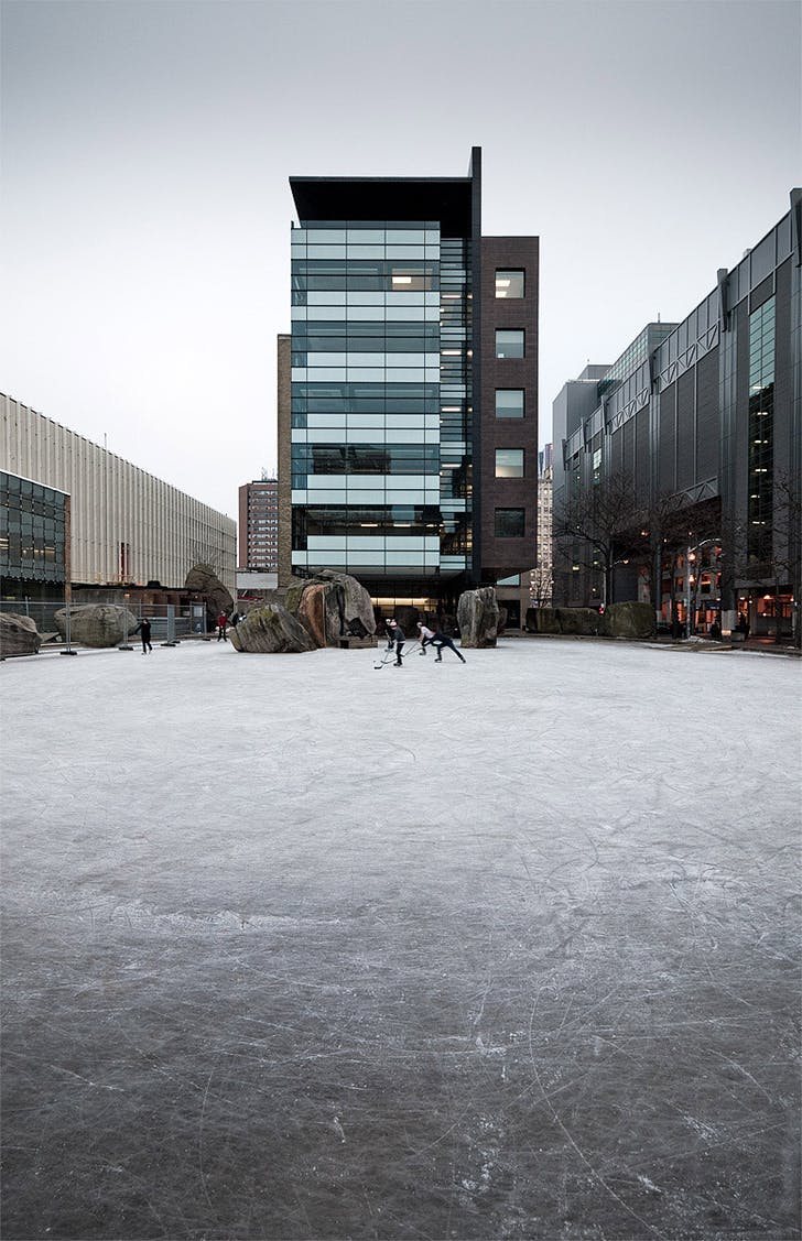Hockey rink at Ryerson University, Toronto, ON © Sam Javanrouh