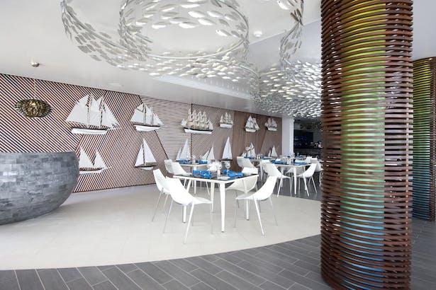 Reception desk & dining room