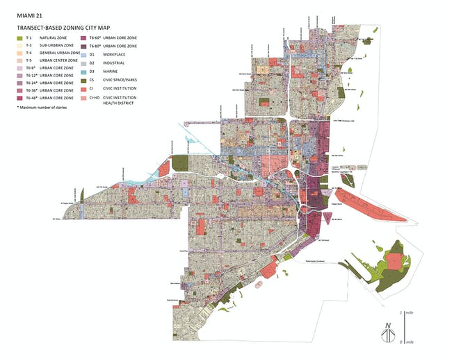 Miami 21: a New Zoning Code for the City; Miami, FL. Image courtesy of Duany Plater-Zyberk & Co. LLC