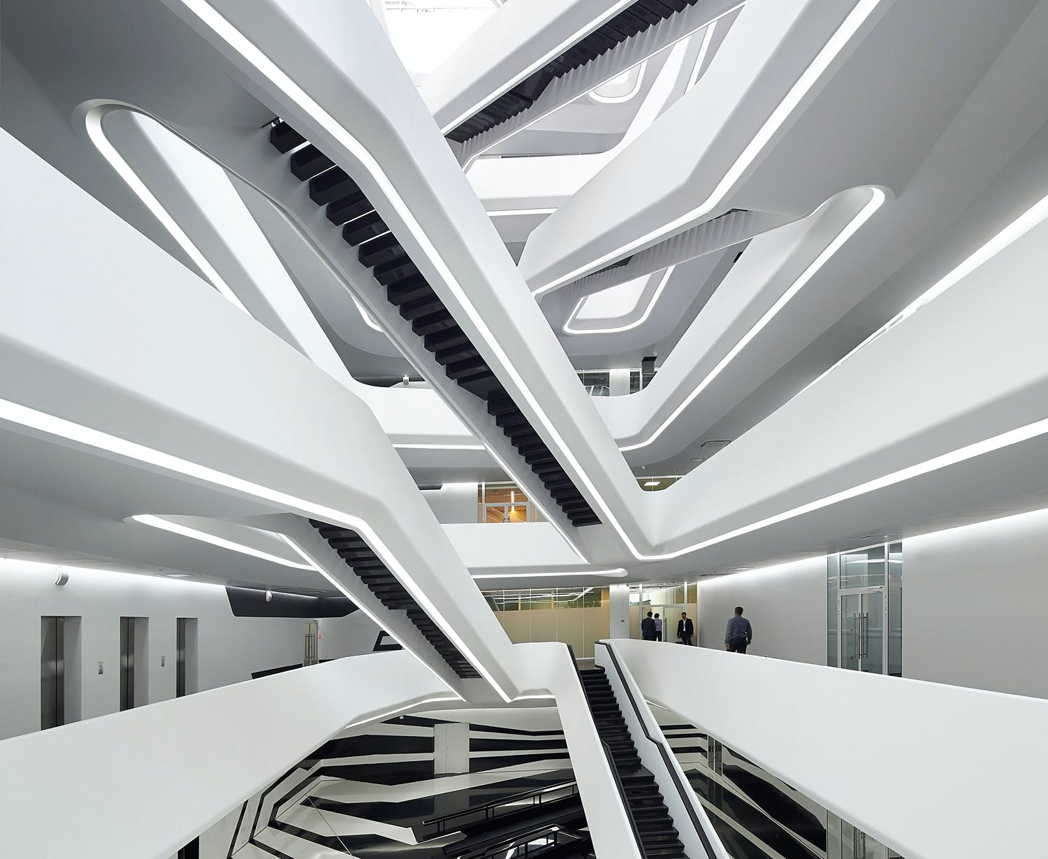 Zaha hadid grntuch ernst davidson rafailidis among 2016 best non public project commercial winner zaha hadid architects uk dominion office building moscow russia malvernweather Gallery