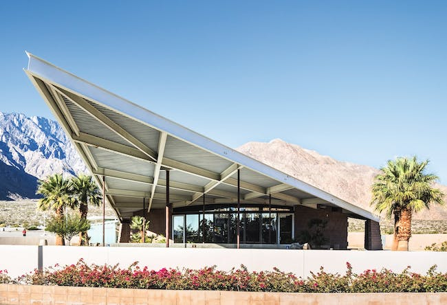 """Tramway Gas Station, from """"Mid-Century Modern Architecture Travel Guide: West Coast USA"""" by Sam Lubell. Photo: Darren Bradley, courtesy of Phaidon."""