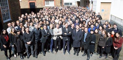 Patrik Schumacher and ZHA's staff. Photo via Patrik Schumacher's Facebook.