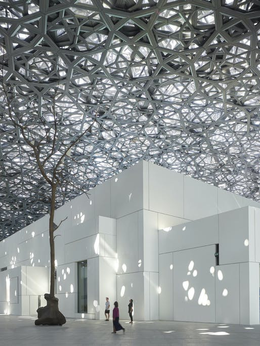 Interior of the Jean Nouvel-designed Louvre Abu Dhabi which opens this week. © Louvre Abu Dhabi, Photography: Roland Halbe.