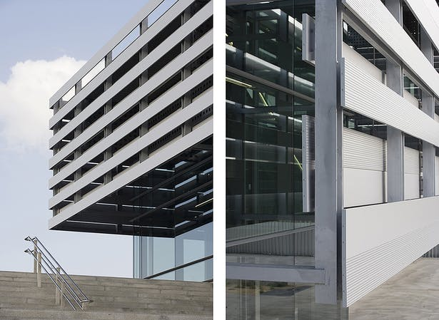 Details of the Linear Aluminum Louvers