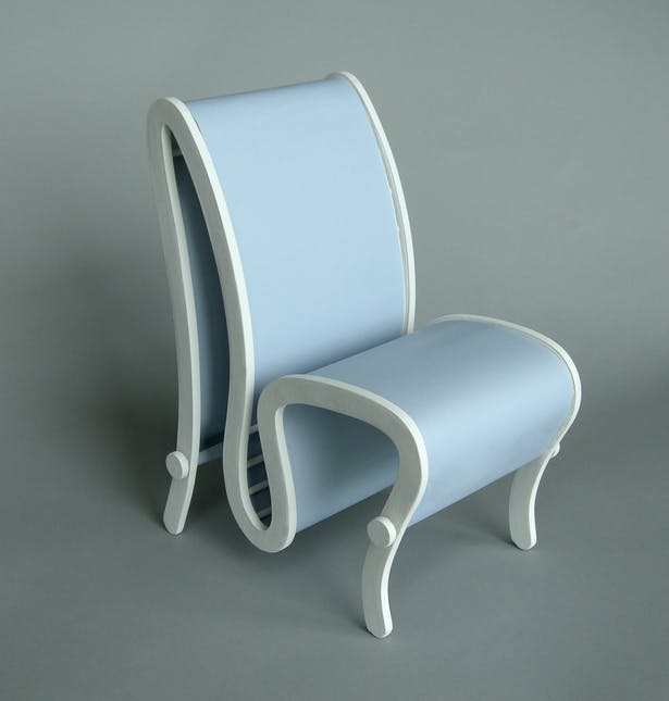 The gray chair.