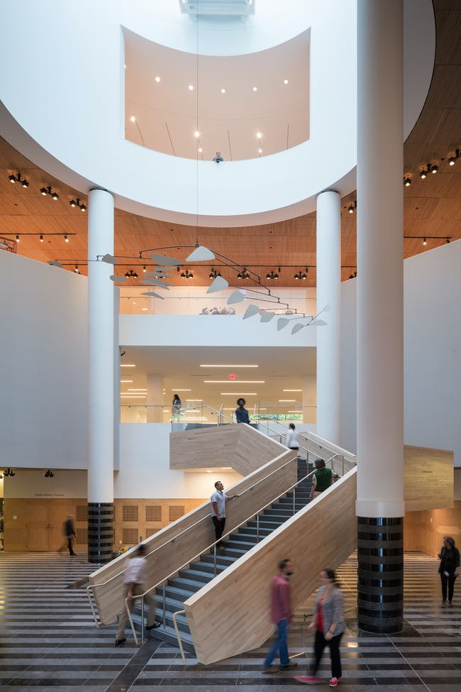 Alexander Calder's Untitled (1963) on view in the Evelyn and Walter Haas, Jr. Atrium at the new SFMOMA; photo: © Iwan Baan, courtesy SFMOMA.