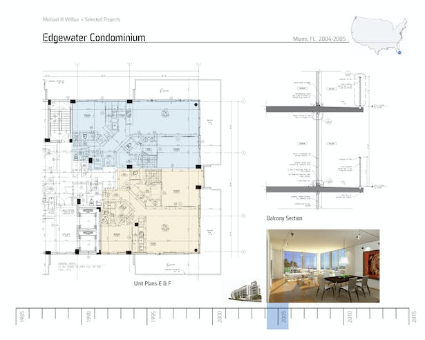 Edgewater Unit Plan and Section