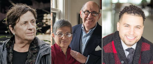 From L to R: Carol Ross Barney. Photo by Witten Sabbatini; Julie Hacker and Stuart Cohen; Oswaldo Ortega. All photos courtesy Society of Architectural Historians.